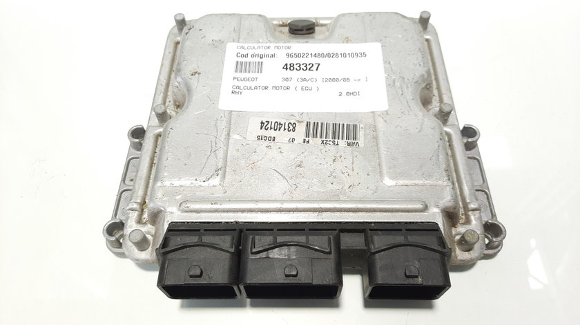 Calculator motor, cod 9650221480, 0281010935, Peugeot 307, 2.0 HDI, RHY (id:483327)
