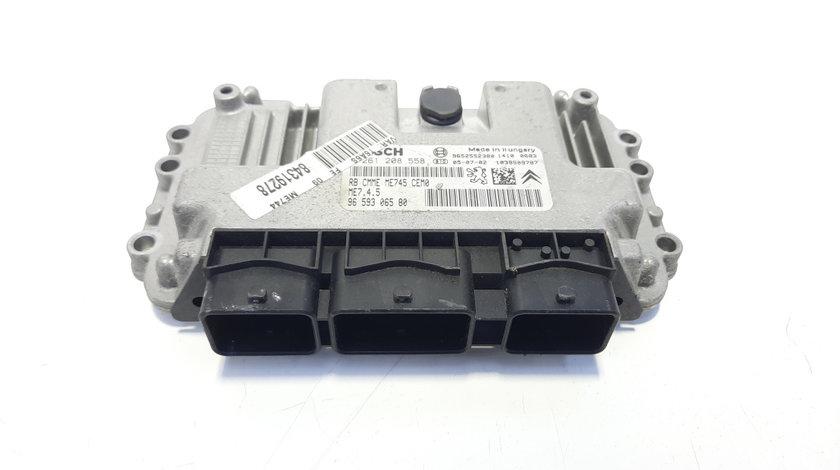 Calculator motor, cod 9659306580, 0261208558, Peugeot 307, 1.6 HDI, 9HZ (id:483635)