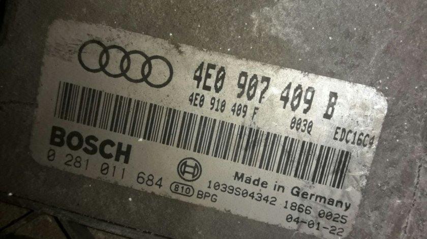 Calculator motor ecu 0281011684 4e0907409b audi a8 4.0tdi biturbo ASE 2002-2010 quatro 275hp