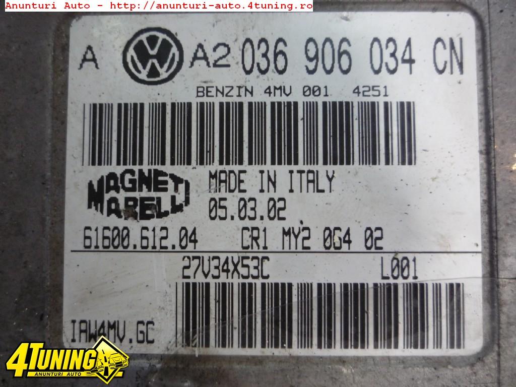 calculator motor ecu 036906034cn vw golf 4 1 6 16v tip motor azd 15586