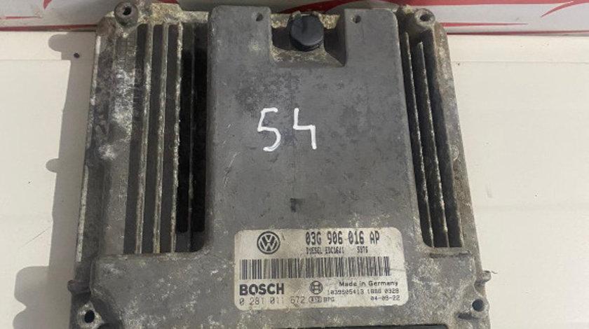 Calculator Motor ECU 03G906016AP Volkswagen Golf 5 2.0tdi 0281011672
