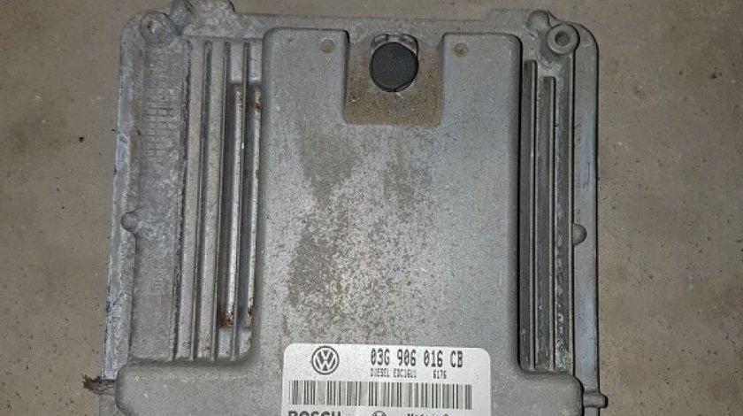 Calculator motor (ecu) 03g906016cb 0281011900 vw jetta III 1.9 tdi bkc 105 cai