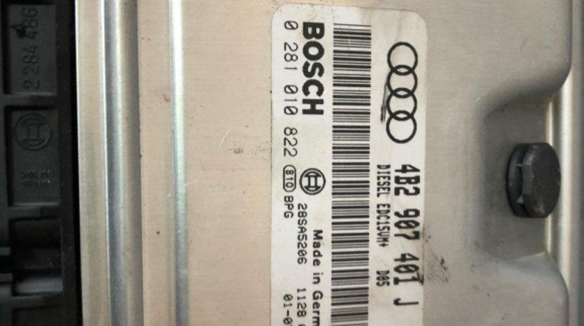 Calculator motor ecu 2.5 tdi audi a6 c5 1997-2005 4b2907401j 0281010822