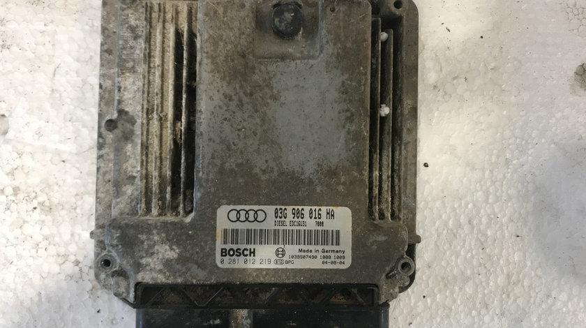 Calculator motor ( ECU ) audi a4 1.9 tdi BKE b6 b7 cod: 03g906016ha