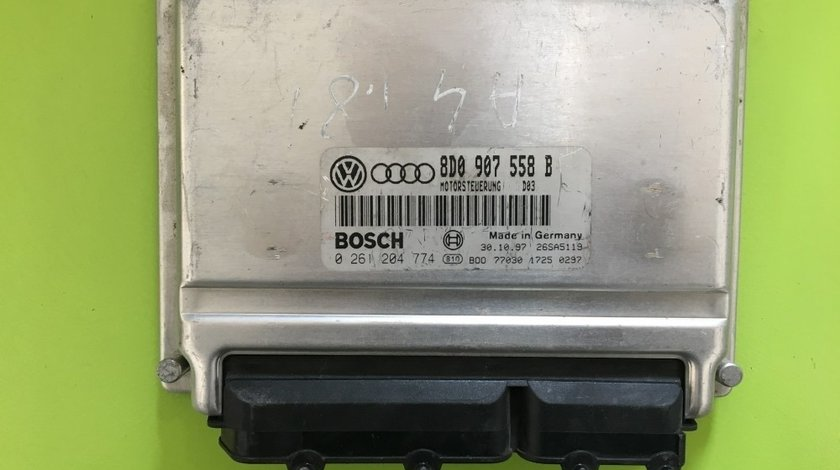 Calculator Motor (ECU) Audi A4 B5 (8D) - (1994-2001) 1.8 i 8D0907558B 0261204774 1037357973