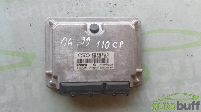 Calculator Motor (ECU) Audi A4 B5 (8D) - (1994-2001) 0281001721 038906018S