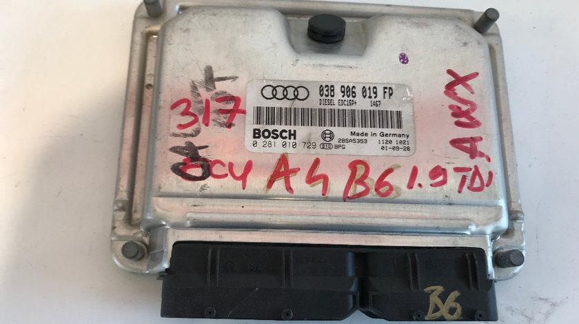 Calculator motor ecu audi a4 b6 1.9 tdi 2001 - 2004 cod: 038906019fp