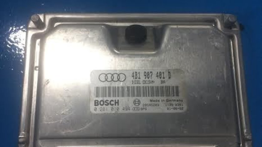 Calculator motor ECU Audi A6 4B C5 2.5 TDI AYM an 2001 - 2005 cod 4B1907401D