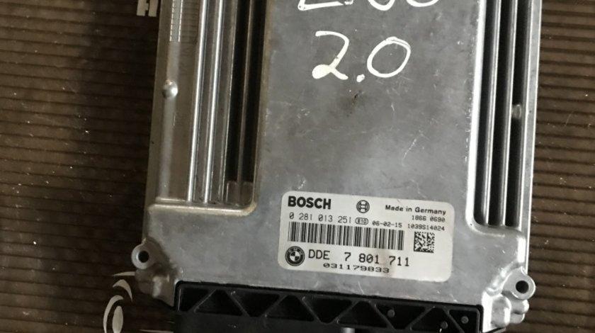 Calculator motor ECU BMW 520 Seria 5 E60/E61 2.0D 7 801 711/ 0 281 013 251