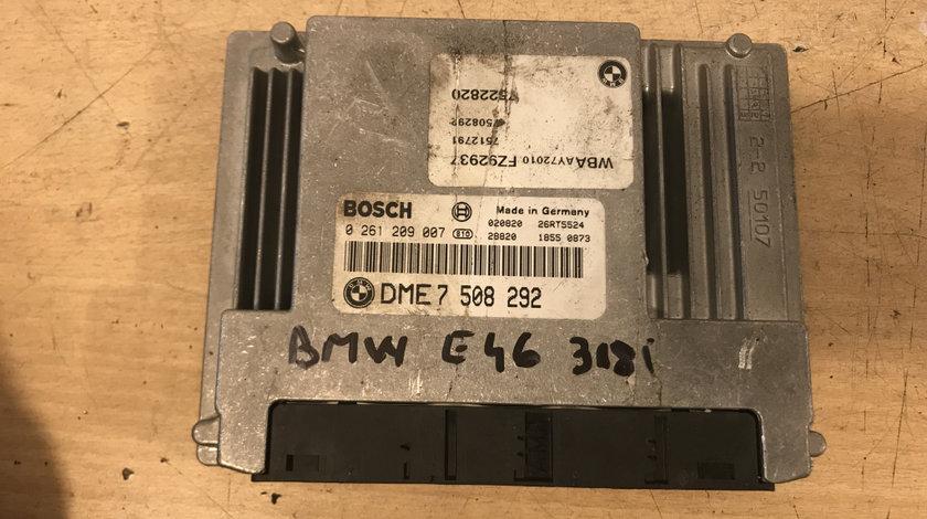 Calculator motor (ECU) bmw seria 3 e46 316, 318 i cod: 7508292