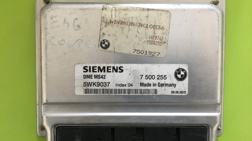 Calculator Motor (ECU)BMW Seria 3 E46 5WK9037 7501927 7500255 2.5i 2.8i