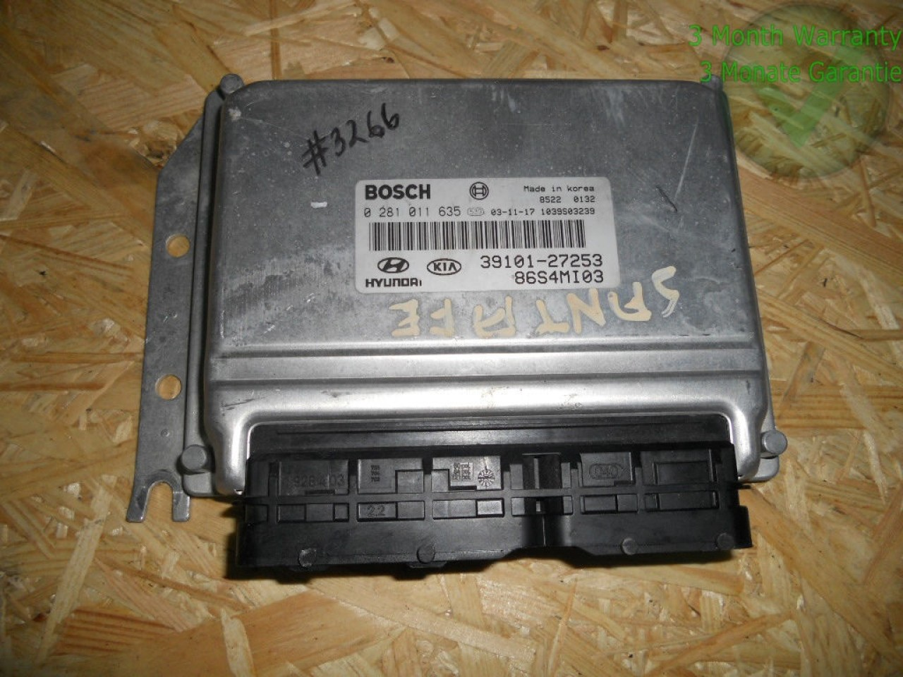 Calculator motor(ecu) hyundai sante fe 2.0 crdi cod 39101-27253 0281011635
