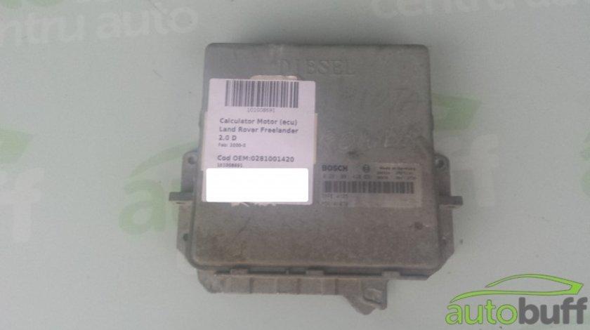 Calculator Motor (ECU)Land Rover Freelander 0281001420 2.0 D