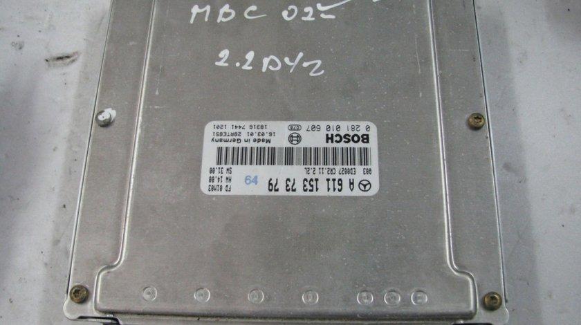 Calculator motor ecu mercedes benz w203 c220 cdi cod a6111537479 0281010607