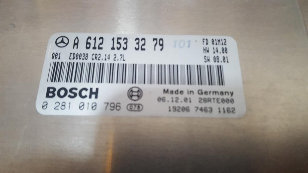 Calculator motor ecu mercedes ml 163 2.7cdi A612 153 32 79