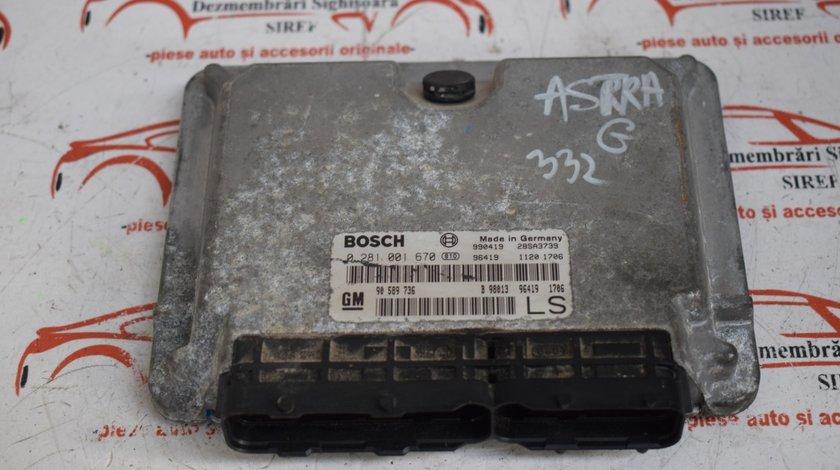 Calculator motor Ecu Opel Astra G 1.7 DTI 0281001670 332