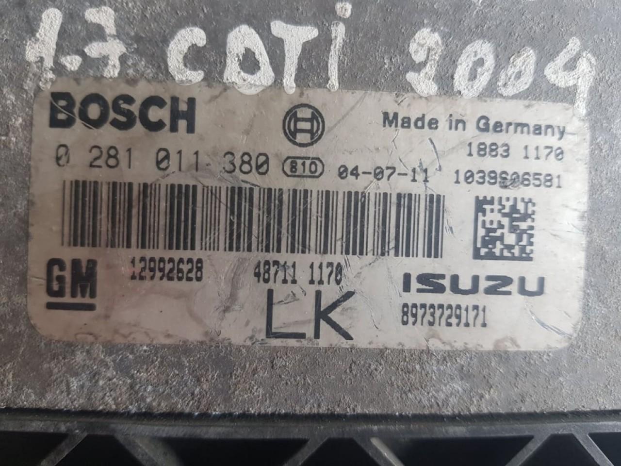Calculator motor Ecu Opel Astra H 1.7CDTi 12992628 0281011380