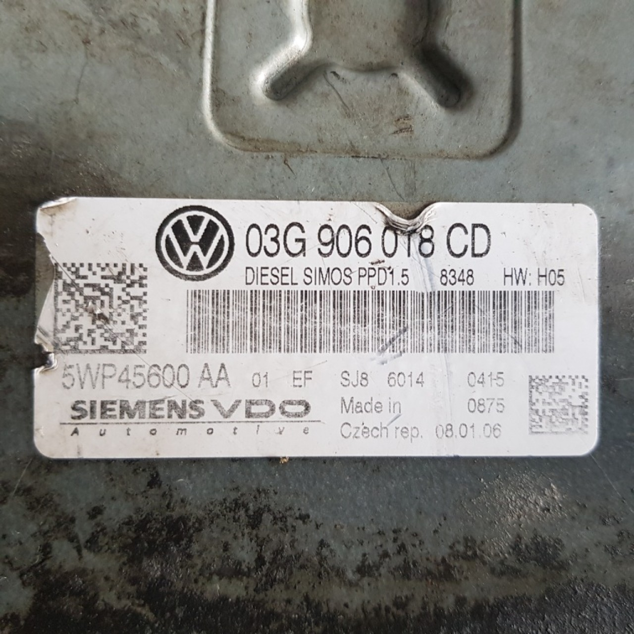 Calculator motor / Ecu VW Passat B6 2.0TDi 03g906018cd