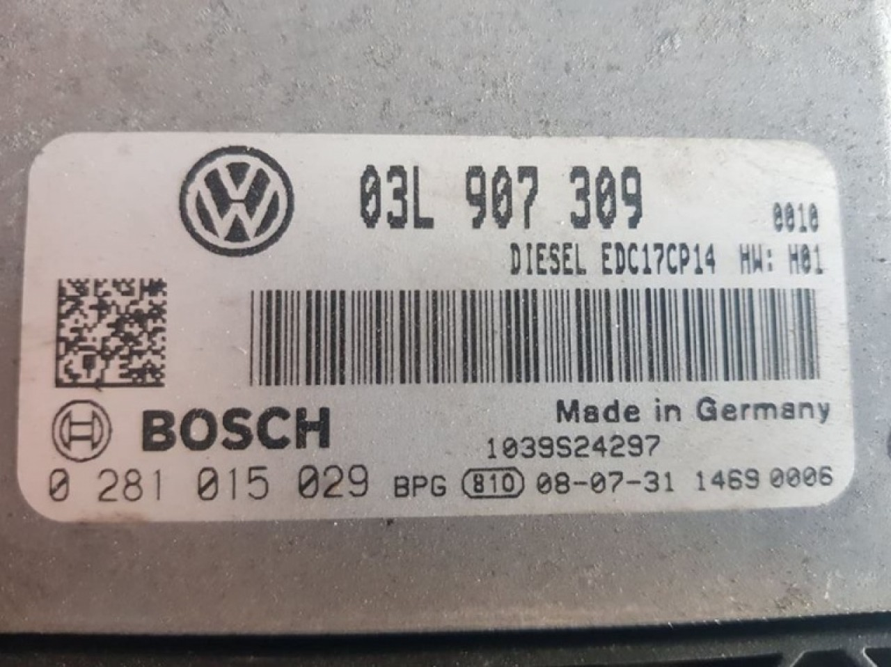 Calculator motor Ecu VW Passat CC 2.0TDi CBDC 03l907309