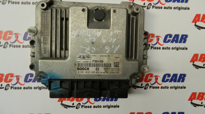 Calculator motor Ford Focus 2 1.6 TDCI COD:5M51-12A650-TB