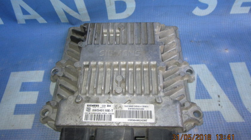 Calculator motor (incomplet) Citroen C3 1.4hdi; 9654925480