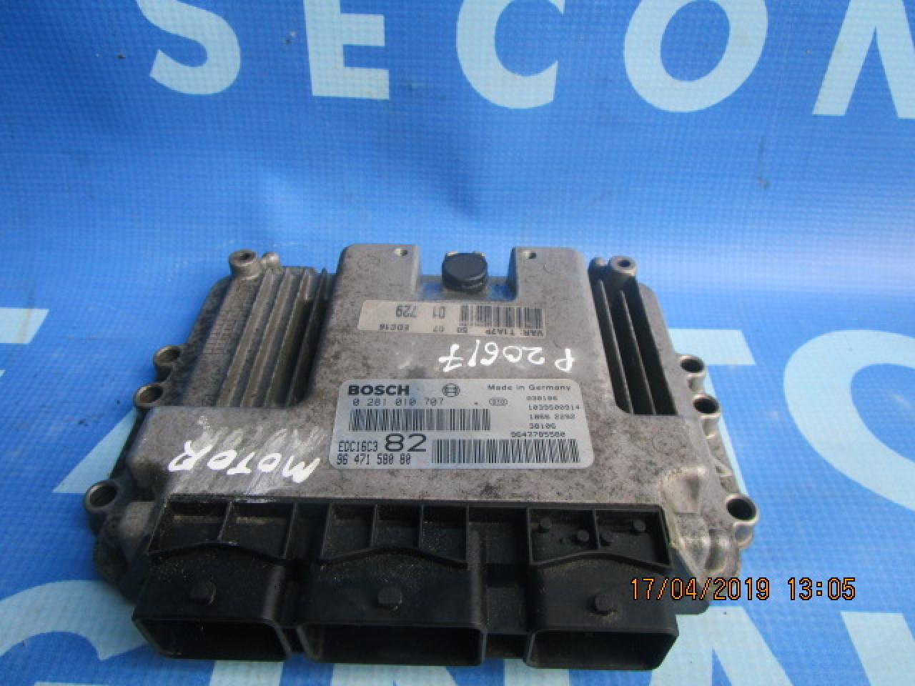 Calculator motor (incomplet) Peugeot 206 1.4hdi; 9647158080