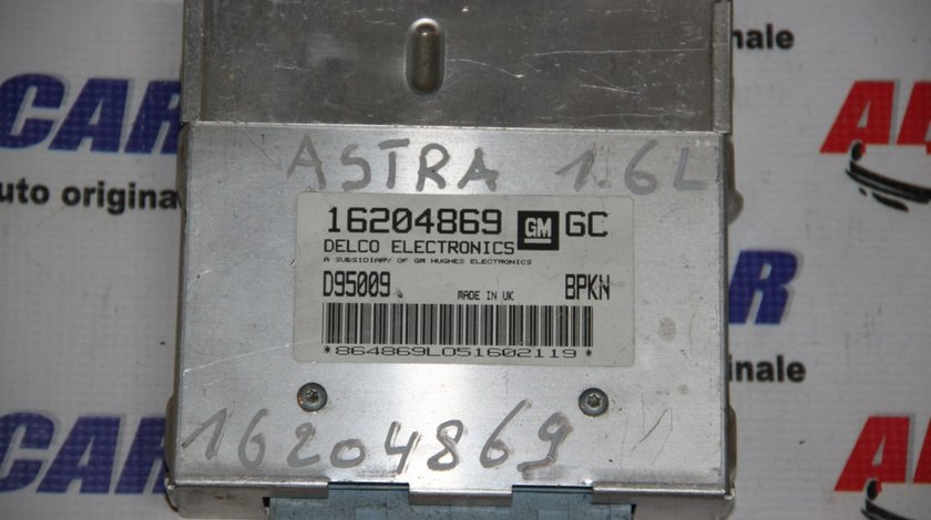 Calculator motor Opel Astra F 1.6 Benzina cod: 16204869 / 16204869GC / D95009 model 1995