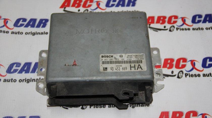 Calculator motor Opel Astra F 2.0 16 V cod: 90452669 / 90452669HA / 0261203583 model 1995