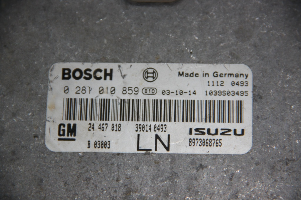 Calculator motor Opel Astra G 1.7 CDTI cod: 24467018LN / 24467018 / 0281010859 model 2001