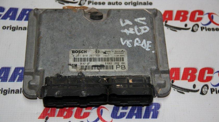 Calculator motor Opel Astra G 2.0 DTI cod: 24417167 / 24417167PB / 0281010267 model 2001
