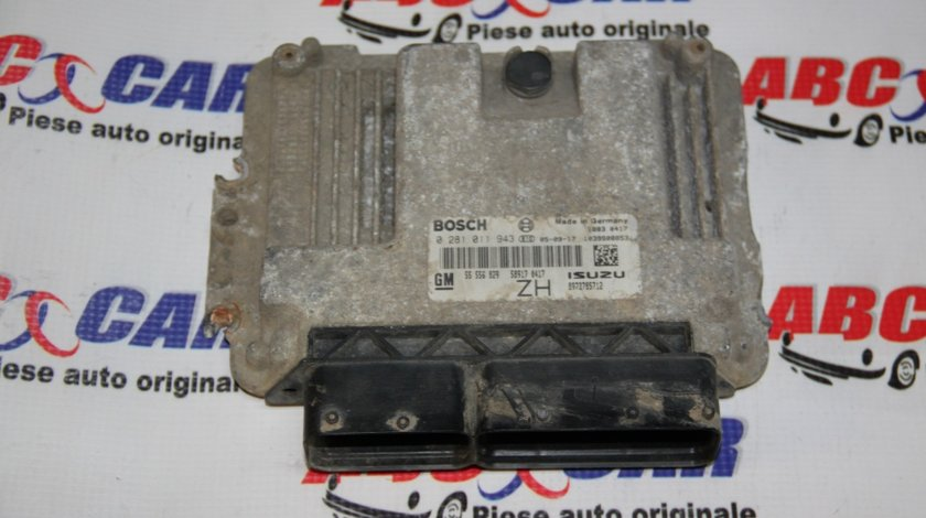 Calculator motor Opel Astra H 1.7 CDTI cod: 0281011943 / 55556829ZH model 2007