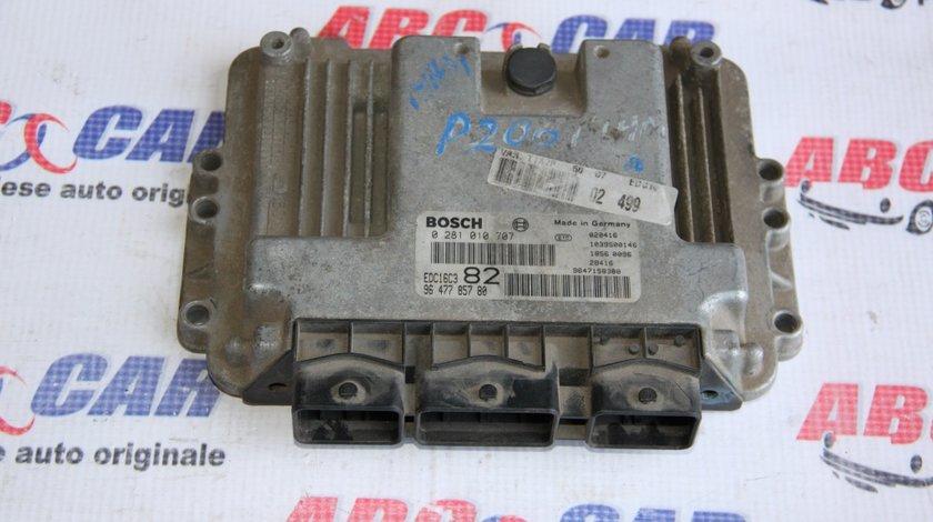 Calculator motor Peugeot 206 1.4 HDI cod: 0281010707 / 9647785780 model 2005