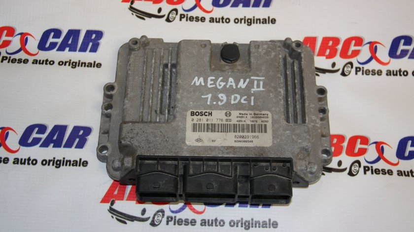 Calculator motor Renault Megane 2 1.9 DCI cod: 0281011776 / 8200391966 model 2007