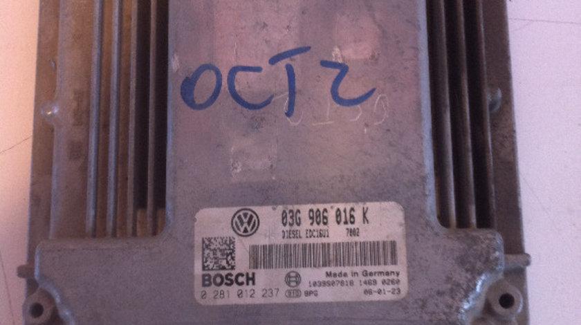 Calculator motor skoda octavia 2, golf 5 1.9 tdi bxe 2004 - 2009 cod: 03g906016k