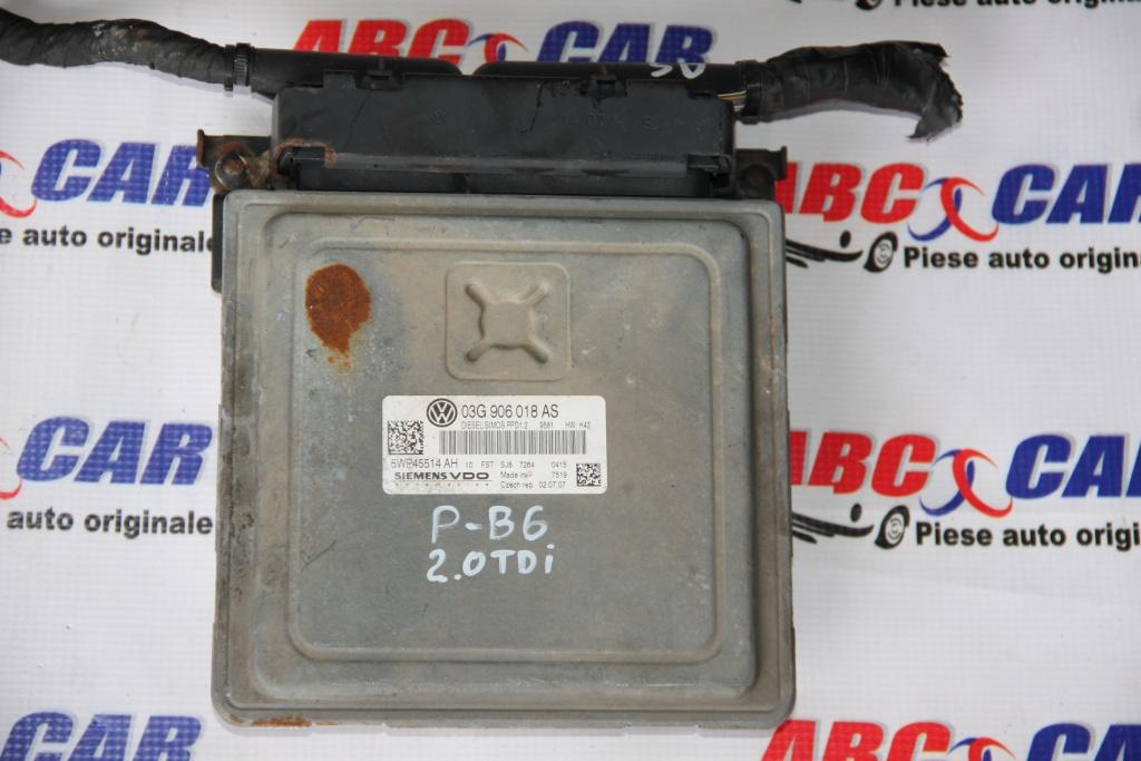 Calculator motor VW Passat B8 2.0 TDI cod: 03G90608AS model 2007