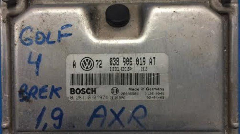 Calculator motor VW Volkswagen Golf 4 1.9 TDI AXR an 1997 - 2005 cod 038906019AT