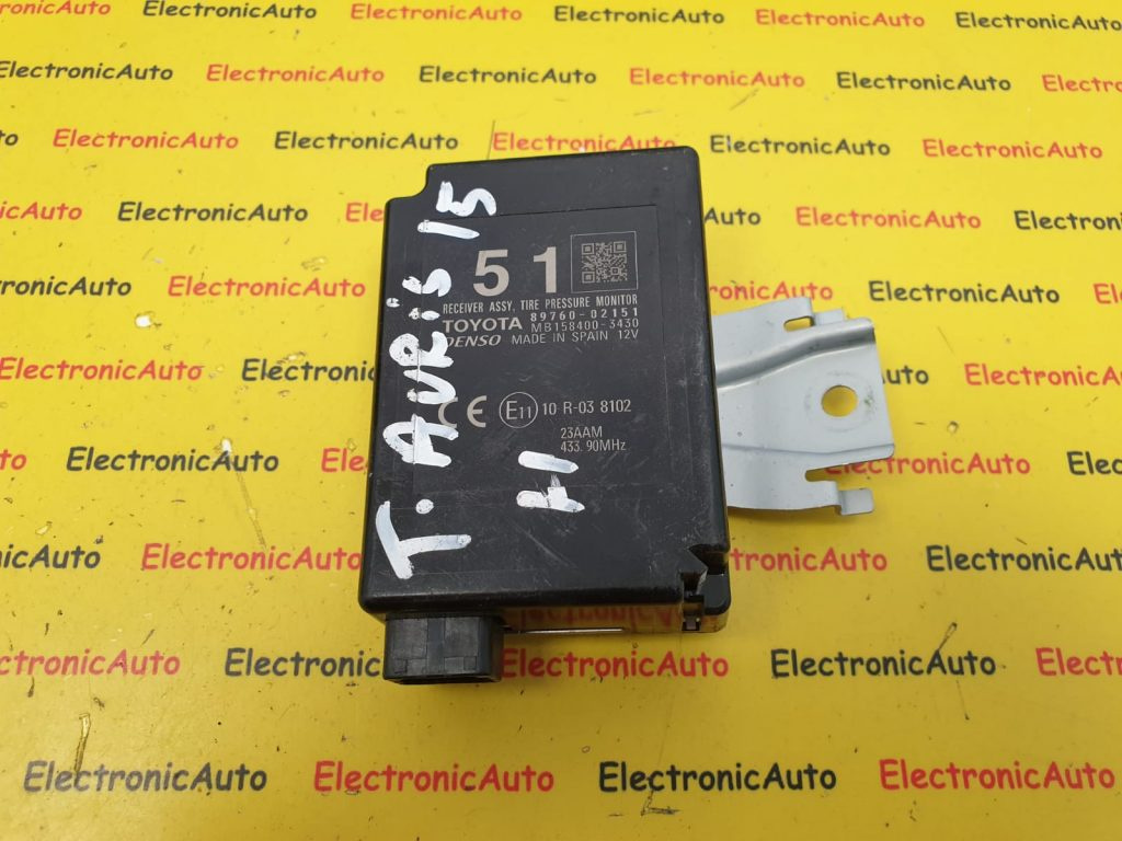 Calculator Senzori Presiune Roti Toyota Auris 1.8 Hybrid, 89760-02151, MB158400-3430
