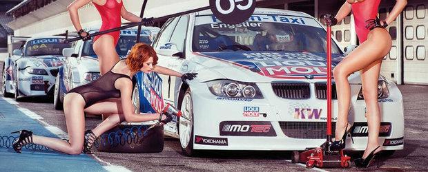 Calendar Liqui Moly 2014: Fete sexy, scene nud si... masini de curse