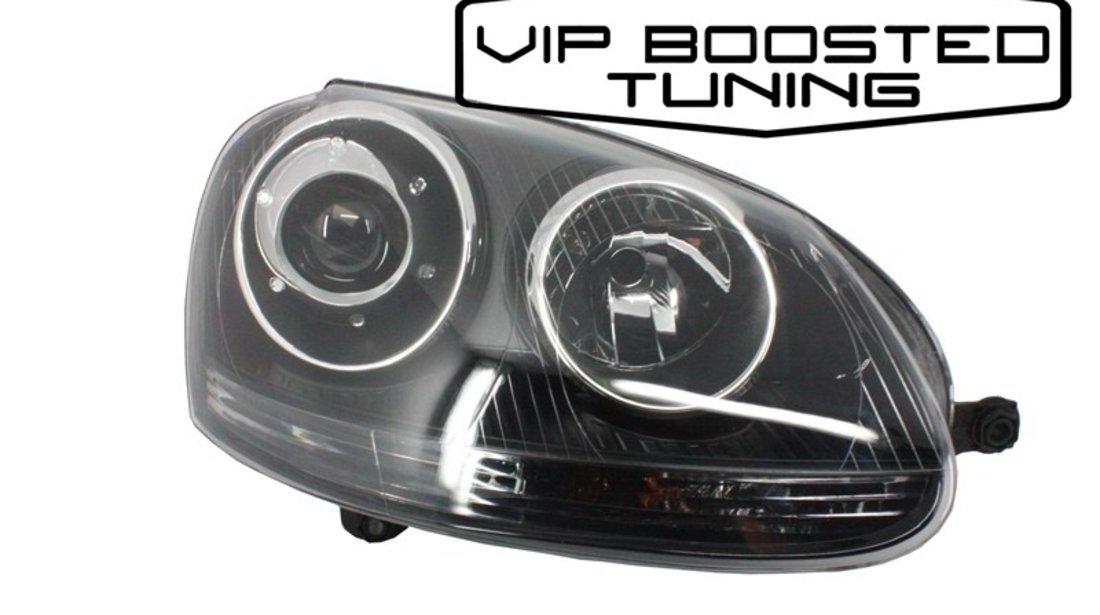 Calitate! Faruri DEPO cu lupa VW Jetta (2005-2010) GTI R32 Design