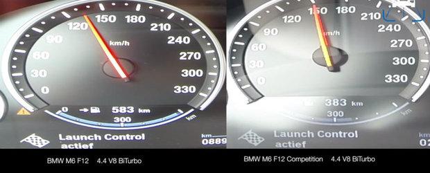 Cam asta faci cu 40 de cai putere in plus. Test comparativ cu BMW-ul M6 Gran Coupe si M6 Gran Coupe Competition