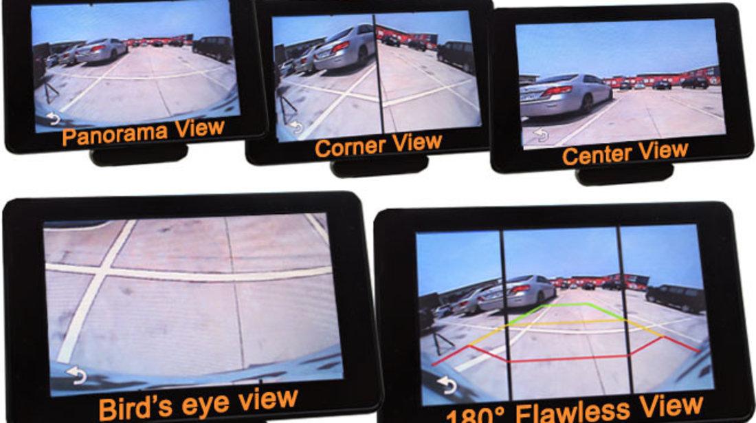 Camera auto de fata panoramica 180 grade vedere dupa colturi
