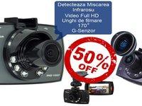 Camera Video Auto DVR G30 Novatek 96650 Full HD 1080p cu unghi de 170 grade si inregistrare nocturna