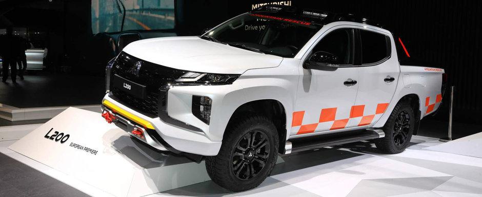 Camioneta omului de rand printre cele mai scumpe masini din lume la Geneva. POZE REALE cu L200 facelift
