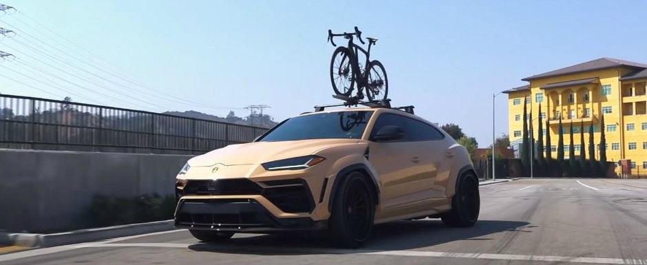 Cand iese pe sosea, toata lumea stie al cui e. Conduce un URUS cu widebody si bicicleta de 20.000 de dolari pe plafon