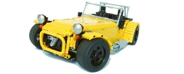 Cand pasiunea nu cunoaste limite: Caterham Seven din 2.500 de piese LEGO si complet functional!