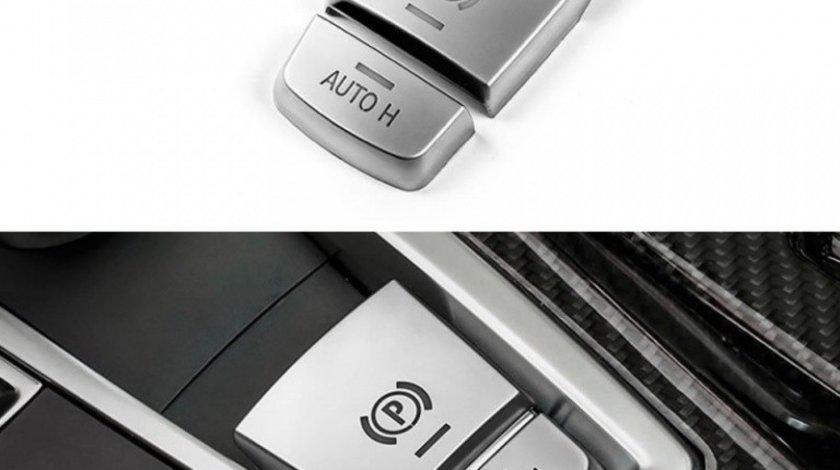 Capac Buton Frana De Mana / Auto Compatibil Bmw X6 F16 2014→ 8013 Aluminiu