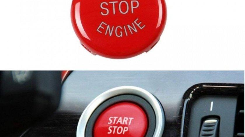 Capac Buton Start-Stop Compatibil Bmw X3 E83 2003-2010 SSV-8007 Rosu