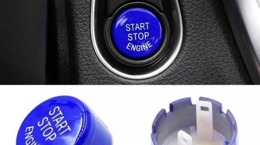 Capac Buton Start-Stop Compatibil Bmw X4 F26 2015-2016 SSV-8006 Albastru