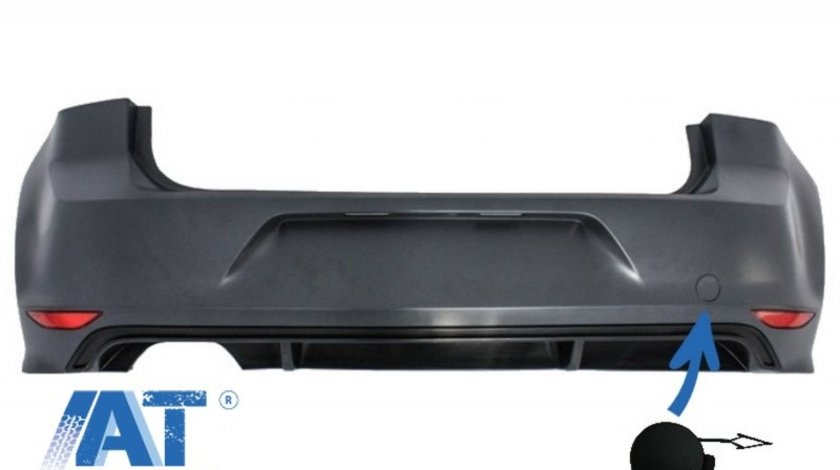Capac Carlig Remorcare Bara Spate compatibil cu VW Golf VII 7 2013-2017 R line Look