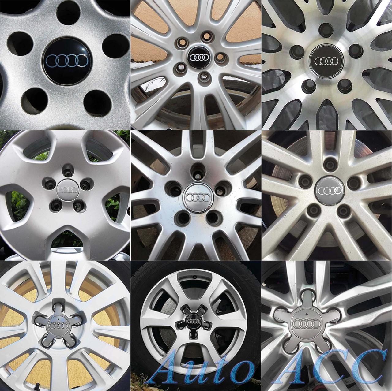 Capace Audi A3 A4 A5 A6 A8 Q3 Q5 Q7 - Jante 15 16 17 18 19 – gri / negre